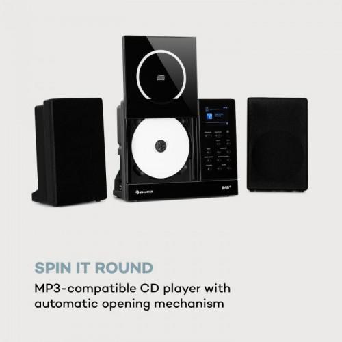 Вертикално интернет радио 2x5 вата RMS CD IR / FM / DAB + Spotify BT