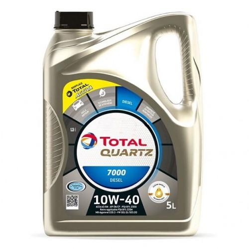 Полусинтетично моторно масло TOTAL QUARTZ 7000 DIESEL 10W40 - 5л.