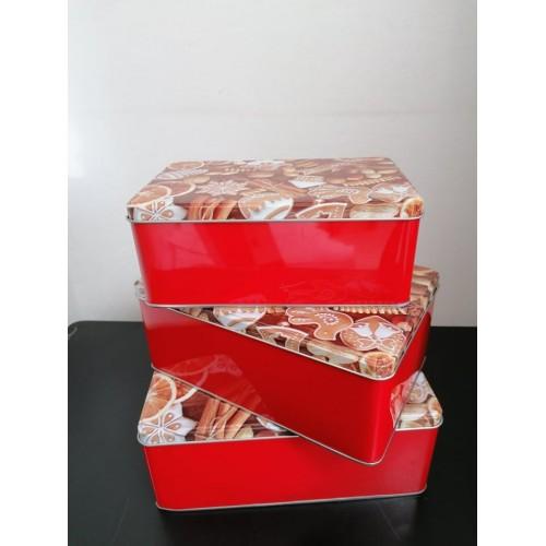 3бр. Кутии за съхранение Kitchen Club