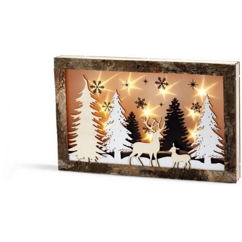 LED дървена картина с 3D светлинен ефект DEKOR