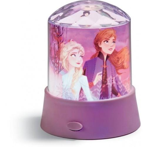 Настолна лампа със звезден проектор Disney Frozen II