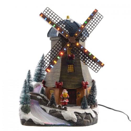 Осветена вятърна мелница Lumineo