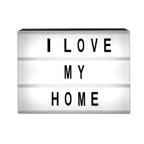 """LED Светеща табела """"I Love my home"""""""