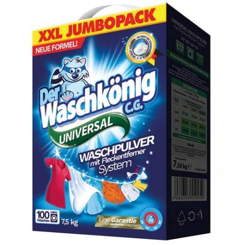 Прах за пране Waschkonig Universal 7,5кг. 100 пранета