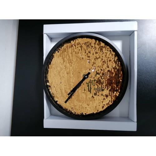 Стенен часовник с пайети DEKOR