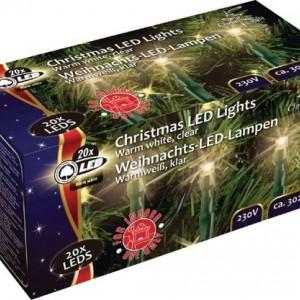 Коледен венец - 20 бели LED крушки