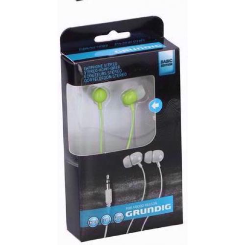 Стерео слушалки Grundig Зелени