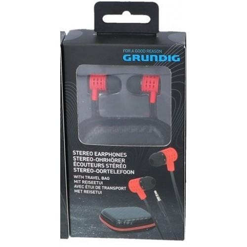 Стерео слушалки Grundig Pro Червени