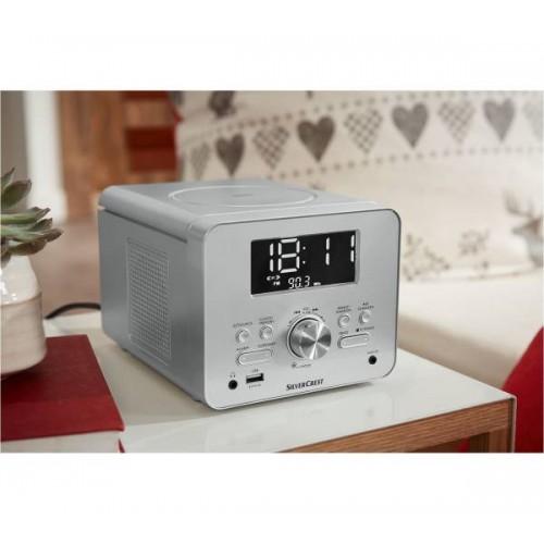 CD радио с часовник Silvercrest