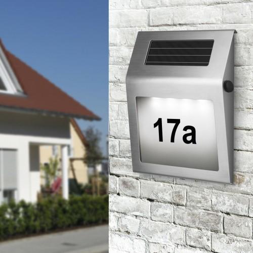 Соларна лампа за номер на къща