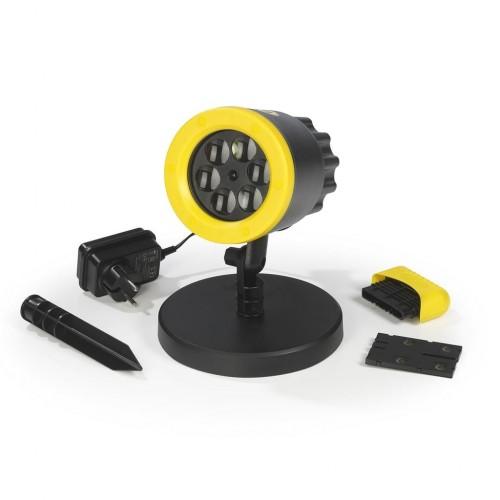 LED прожектор, възпроизвеждащ емблемата на BVB