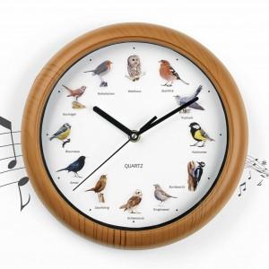 Стенен часовник със звуци на различни птици