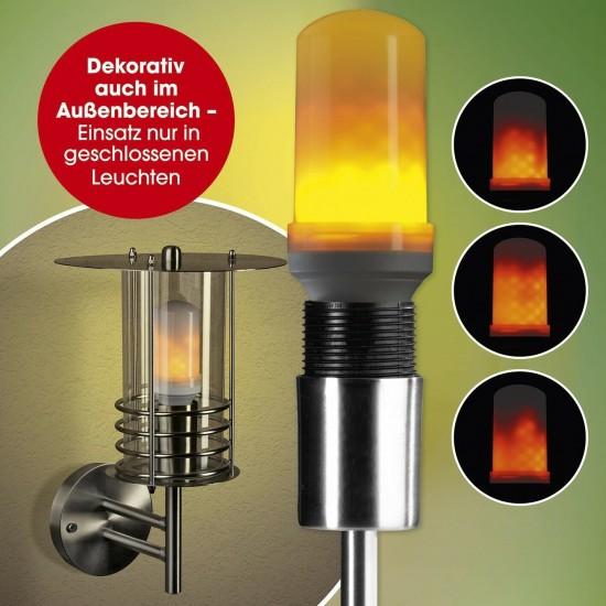 LED лампа с пламъци