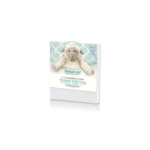 Непромокаем протектор за матрак Terry cotton Baby - Dream On 60х120см.