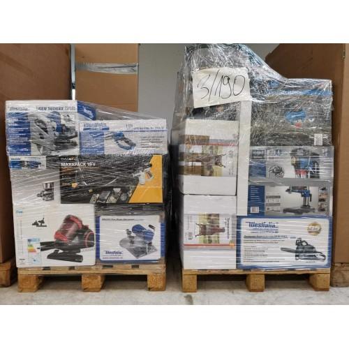 Смесени Палета MIX WS - Инструменти, електроника, дом и градина, аксесоари за автомобили, земеделие и отдих. ABC Клас, Внос от Германия