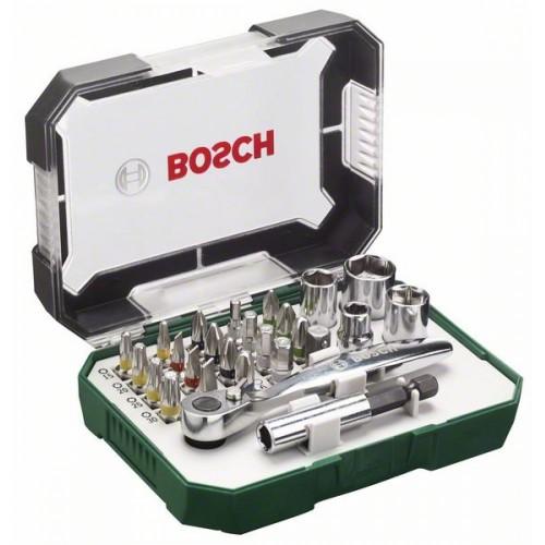 Комплект битове с тресчотка, 26 части BOSCH